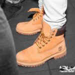 Beige Timberland Boots