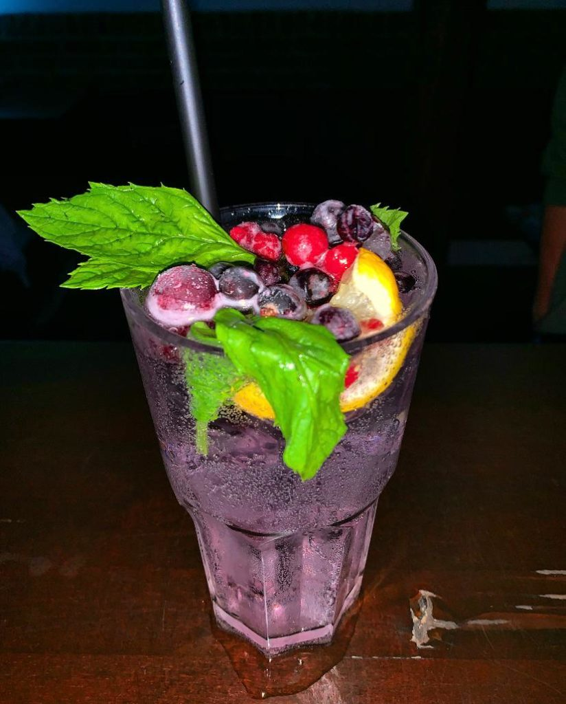 Bubble Blueberry cocktail